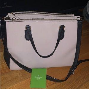 Kate Spade Large Black and Tan Handbag